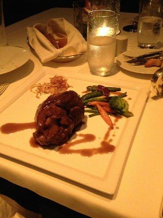 Lamb shank at the Main Restaurant
