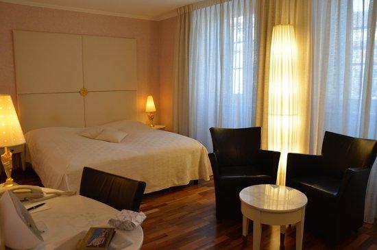 Hotel des Balances: The room.