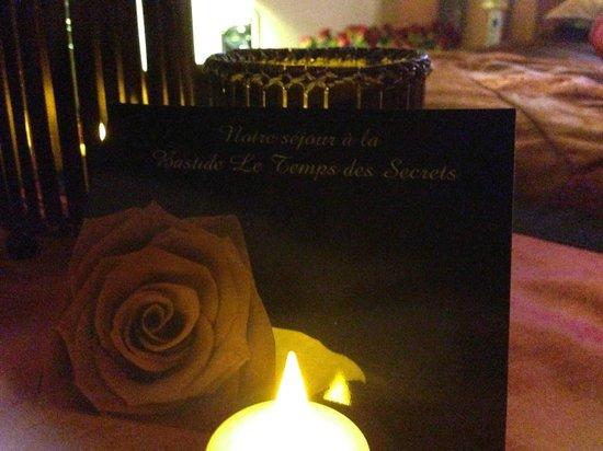 Bastide Le Temps des Secrets : Message personnalisé