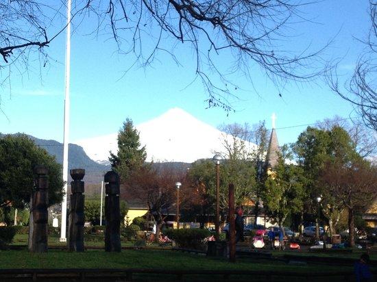 Gran Hotel Pucon: Vista do Vulcão, quartos frontais.
