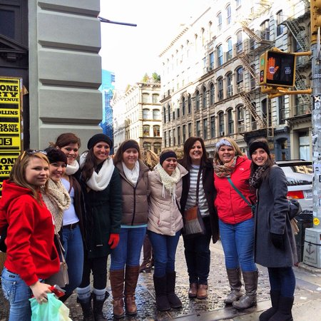 Shop Gotham NYC Shopping Tours : Students from all over the world at our Deca Student Group Shopping Tour this December.