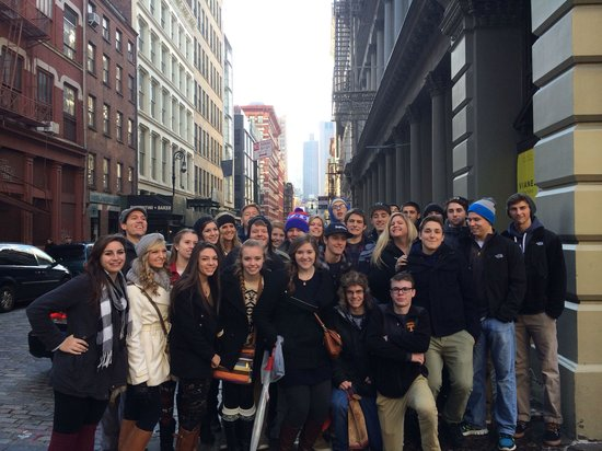 Shop Gotham NYC Shopping Tours : Deca group from this Decembers custom educational shopping student tour.