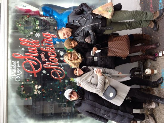 Shop Gotham NYC Shopping Tours: Some of our lovely staff hosting a custom student group shopping tour this holiday season!