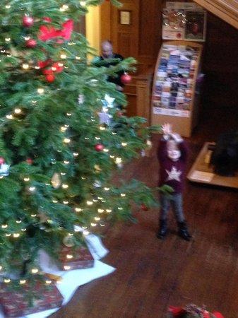 Callendar House: Large 2 storey Christmas tree