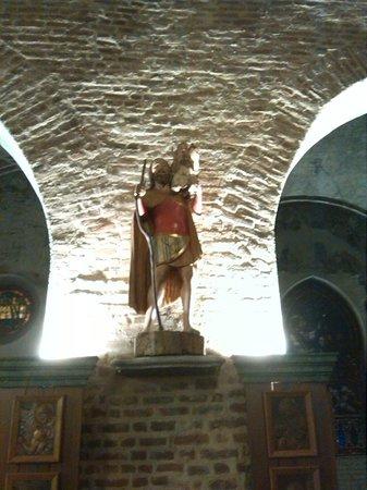Chiesa di San Cristoforo sul Naviglio : Statua lignea San Cristoforo