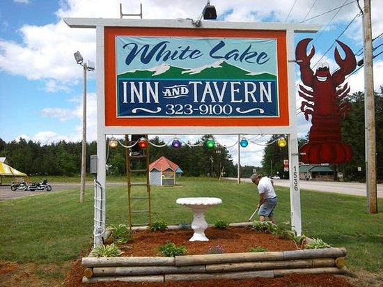 White Lake Tavern: Front Sign