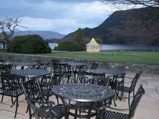 Inn on the Lake: View of the Grounds from The Orangery at Dusk