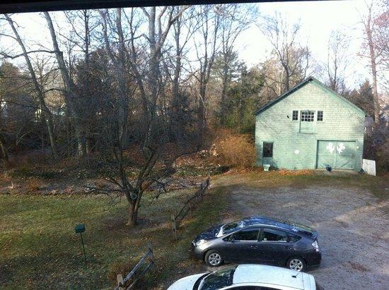 White Horse Inn : Back yard/view from room