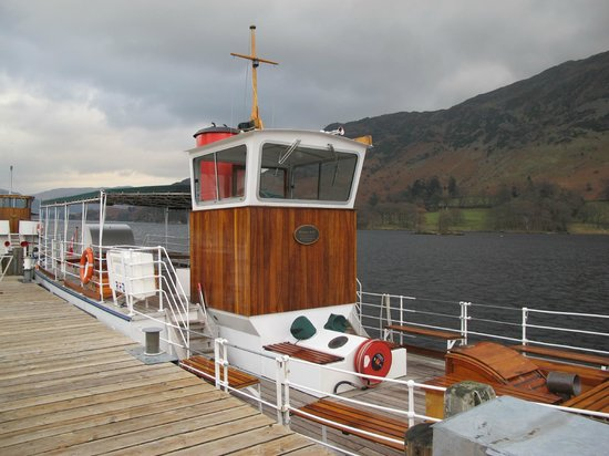 Ullswater Steamers: View of the Western Belle from Glenridding Pier