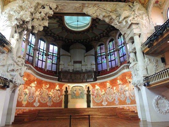 Palais de la Musique Catalane (Palau de la Musica Catalana) : Palco