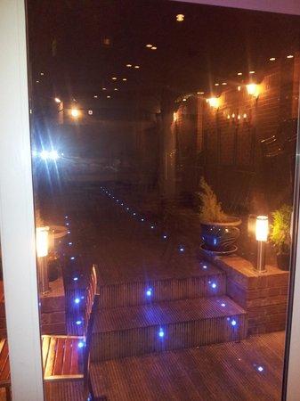 Kandoo: Our beautiful garden at night