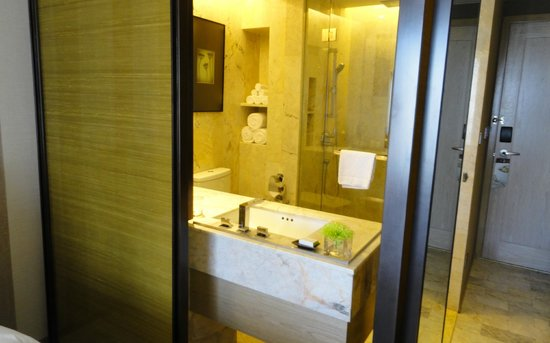 DoubleTree by Hilton Sukhumvit Bangkok: Bathroom with rain shower.