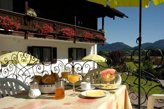 Pension Berganemone: Blick über die Terrasse 2