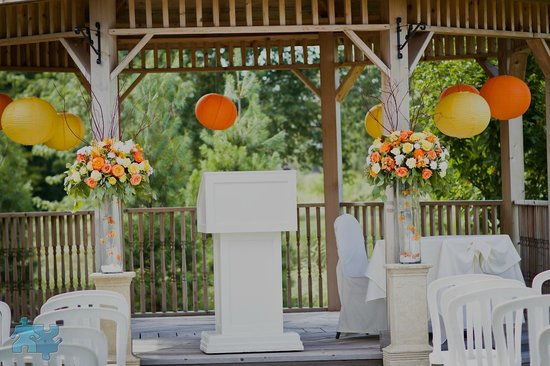Our Gazebo Decorated For A Wedding Picture Of Riverstone Golf