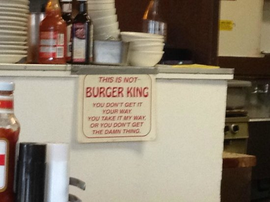 The Why Coffee Shop: We are NOT Burger King!