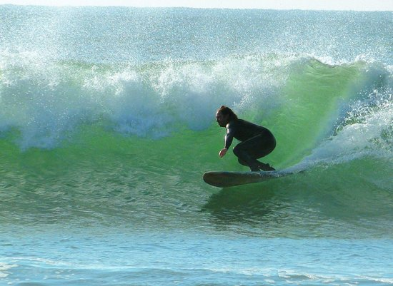 Manorbier Bed and Breakfast: Surfing at Manorbier Bay