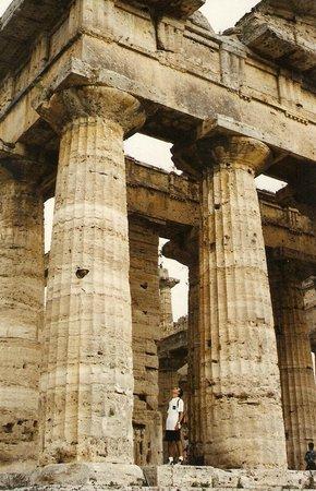 Templi Greci di Paestum : Tempio di Nettuno a Paestum, particolare