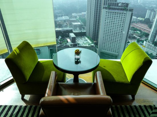 Hilton Kuala Lumpur : One of the Executive Lounge views