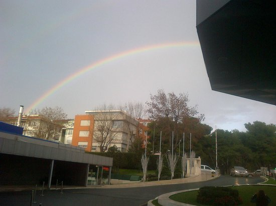 Renaissance Polat Istanbul Hotel: A rainbow while waiting for a taxi one day