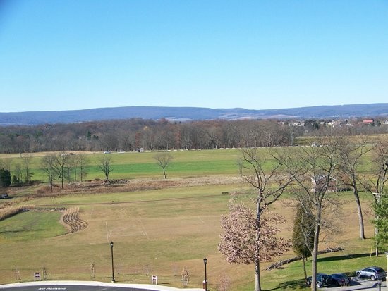 Gettysburg Seminary Ridge Museum: From the seminary cupola this is the view of the battlefield to the west.