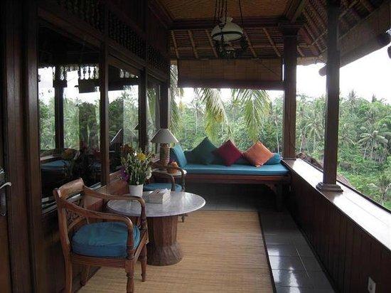 Alam Indah: Hibiscus room balcony