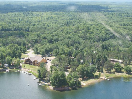 Waubee Lake Lodge from up above
