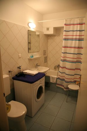 Pension Sacher: Bathroom one room apartement