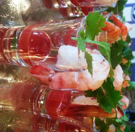 Vistas at RedTail Mountain: Shrimp shooter served at party