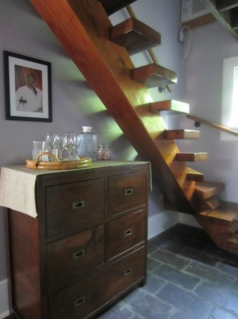 Chimes Bed and Breakfast: Carriage House, Room #1 staircase to master bedroom