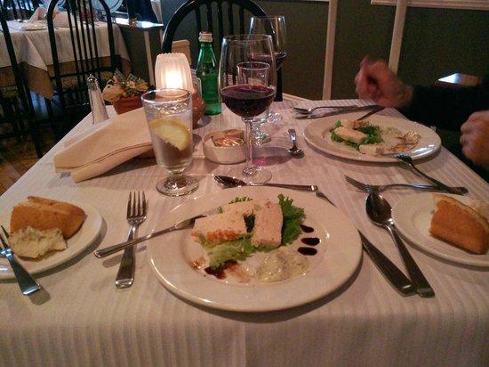 Restaurant Castello-Sweetsburg: terrine de saumon
