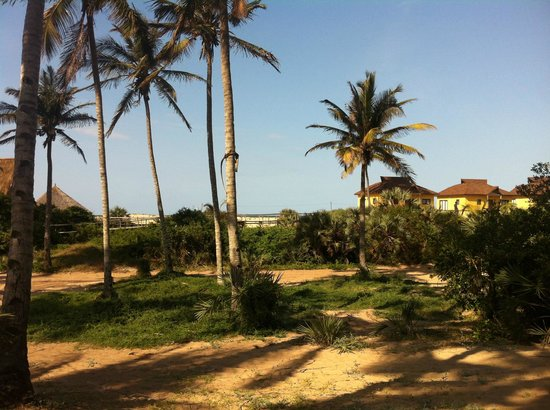 Barra Lodge: Aussicht von den Casitas, rechts vorn die Beach Chalets
