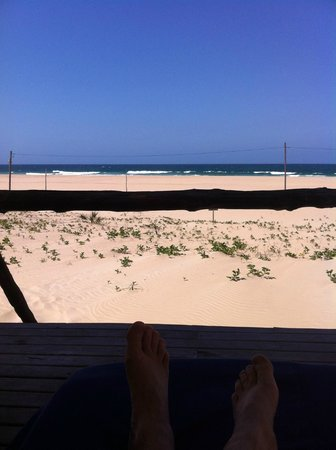 Barra Lodge : Terasse des Beach Chalets