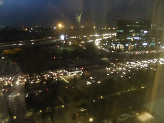 The Westin Gurgaon, New Delhi: Night time view from the room