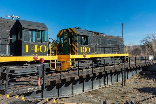 Colorado Railroad Museum: Engine On Turntable