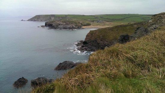 Mullion Cove Coastal Retreat: Looking towards Church Cove