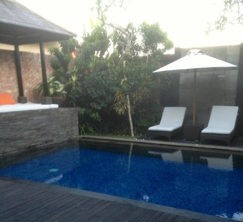 CK Villas Bali: Our very own private pool right outside our bedroom door