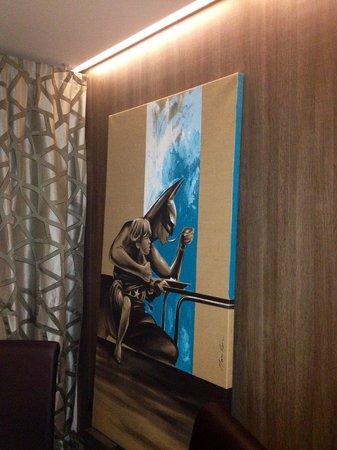 Massimocamia : Uno dei quadri con Batman