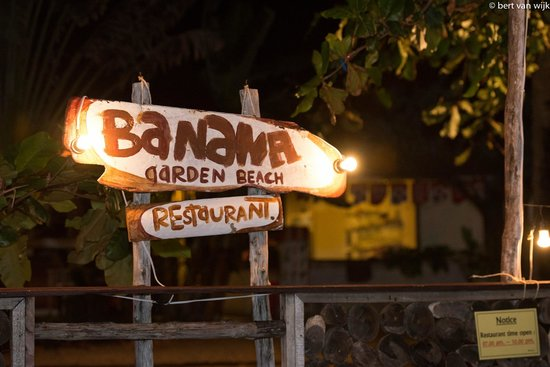 Banana Garden Home : Beach front sign