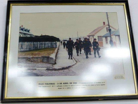 Museo Naval de la Nacion: Naval Museum - Argentinan troops land on the Falklands Malvinas