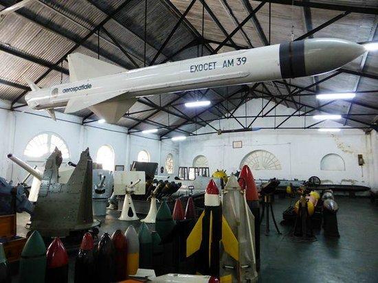 Museo Naval de la Nacion: Naval Museum - Exocet missile
