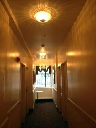 The Fitzgerald Hotel: The sixth-floor hallway, looking toward Post St.