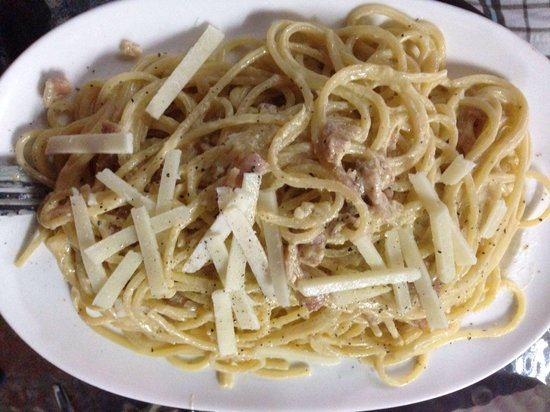 Italian Job Coffee: Pasta carbonara