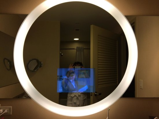 Hyatt Regency Orlando TV In Bathroom Mirror
