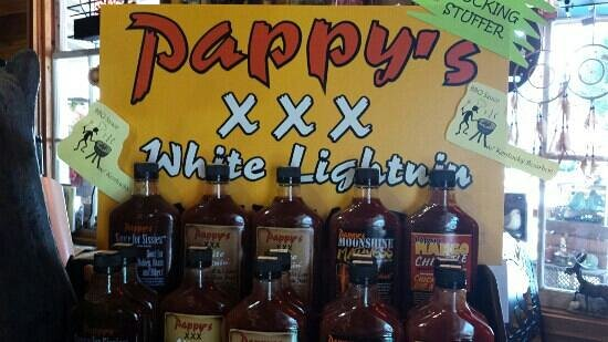 Blairsville, GA: Pappy' XXX White Lighting...BBQ sauce with Ky. Bourbon....