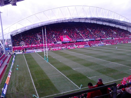 Limerick Strand Hotel: VIEW OF THOMOND PARK FROM ROOM