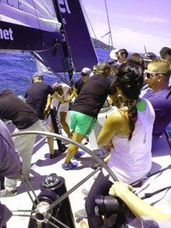 Explore Sailing - America's Cup Sailing Experience : the best day. The crew were fantstic, all the guest were happy and friendly, the weather was bri