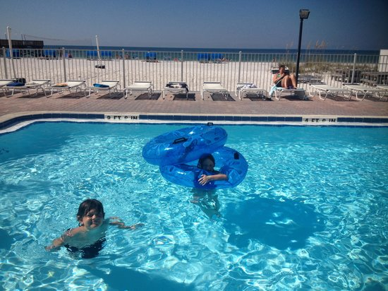 Sand Dollar Condominiums: View of pool from balcony