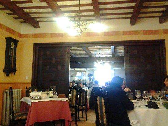 Hostería de Los Palmeros: Techo con las vigas a la vista.