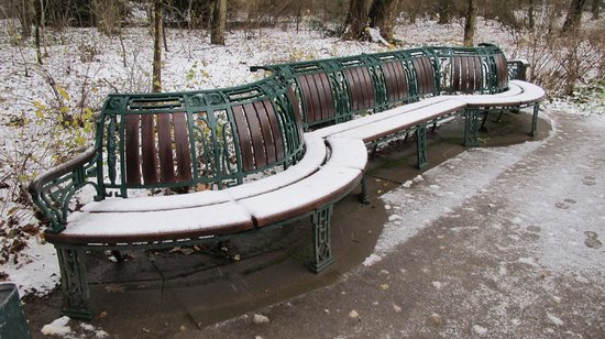 Bürgerpark: banco
