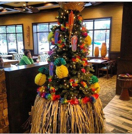 Christmas Tree at Truett's Luau